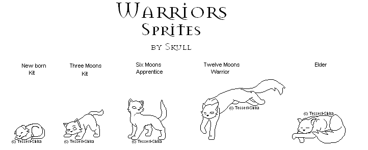 Free Warriors Cats Sprites By Nova Nocturne On Deviantart Warrior Cat Coloring Pages