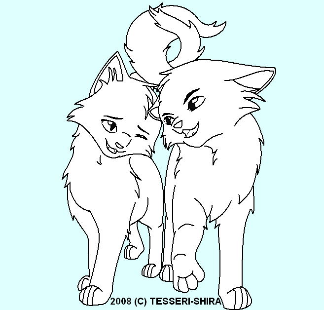 Young Love Free Cat Lineart by Nova-Nocturne