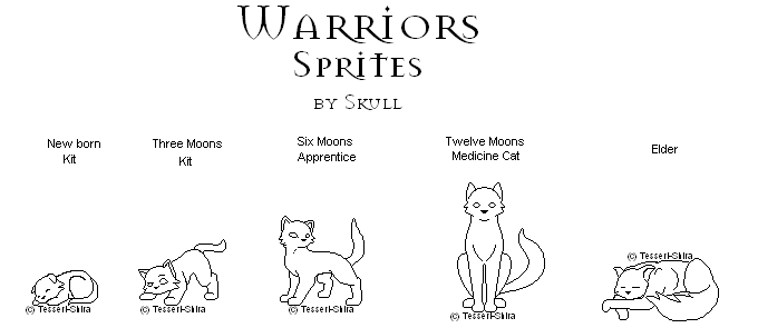 Warriors Med.Cat Sprites free by Nova-Nocturne