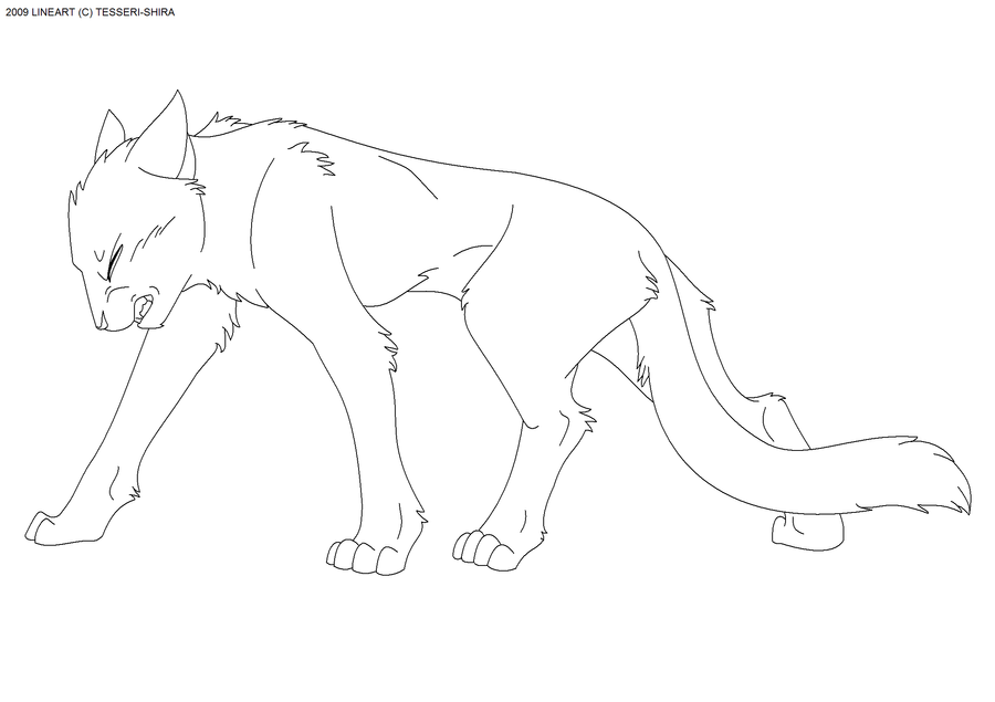 Cat Lineart : Push through free cat lineart by tesseri shira on deviantart