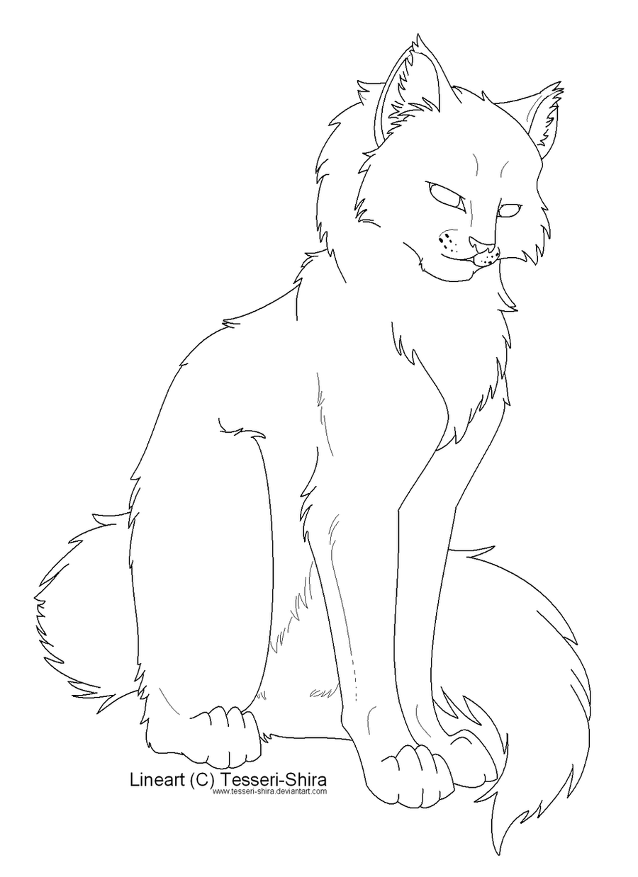 warrior cats coloring pages - warrior cats firestar free coloring pages