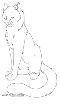 Free lineart Shorthair Cat