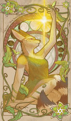 Nova in Alphonse Mucha Style by Nova-Nocturne