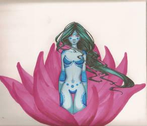 Blue Lily by Illustroluna