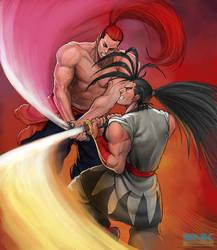 haohmaru vs genjuro by Froitz