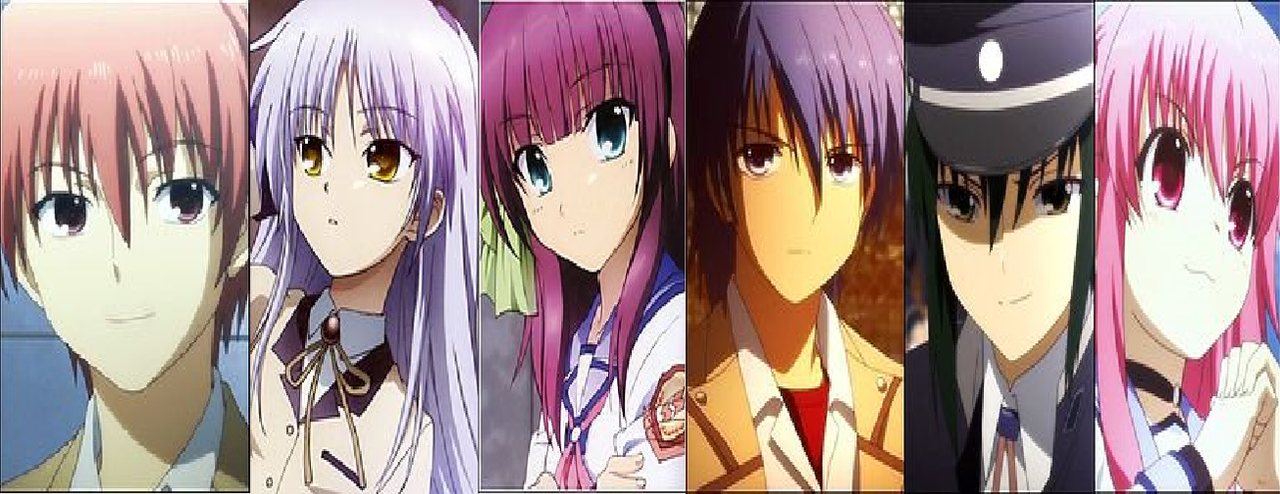 angel beats main characters by thequadforce1 on deviantart