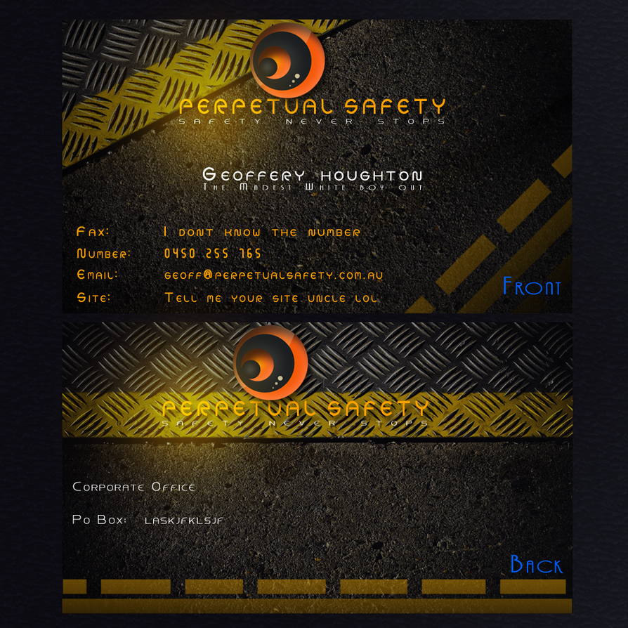 Perpetual safety business card by jalp1310 on deviantart perpetual safety business card by jalp1310 colourmoves
