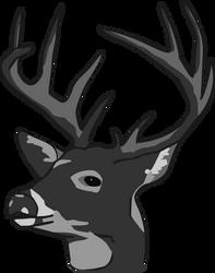 Deer Head by BrianBurkard