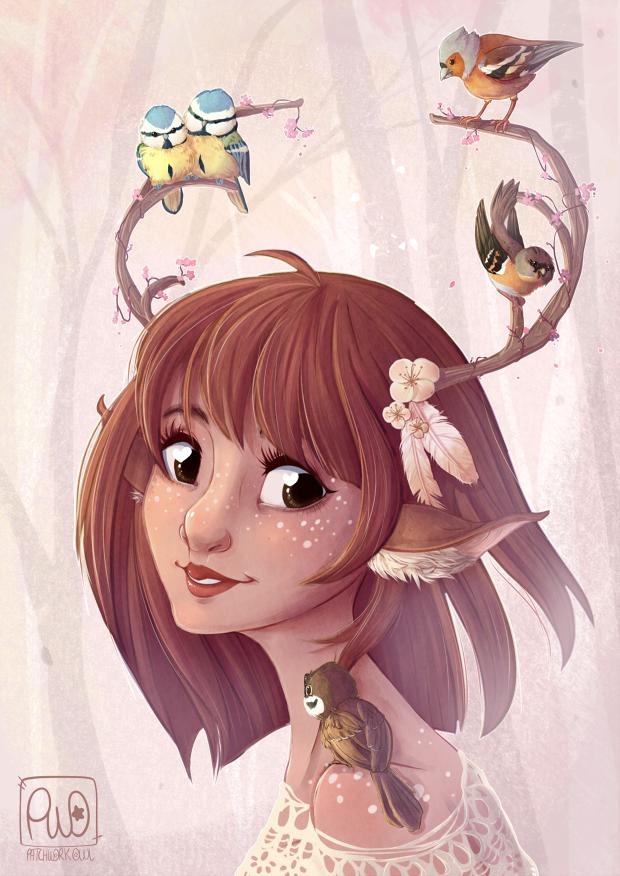 Mori Deer Girl by cindre