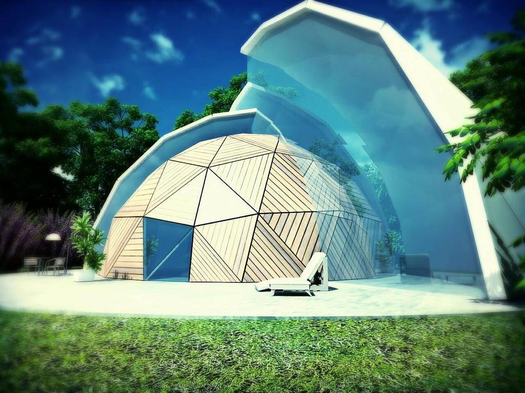 geodesic dome house by al3xcjc on deviantart