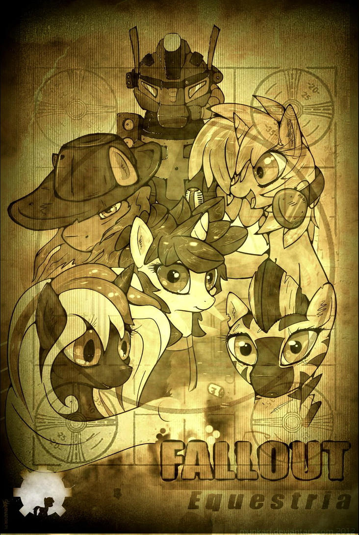 Fallout Equestria old pic by Munkari