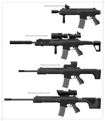 M26 Rifle family by Skariaxil
