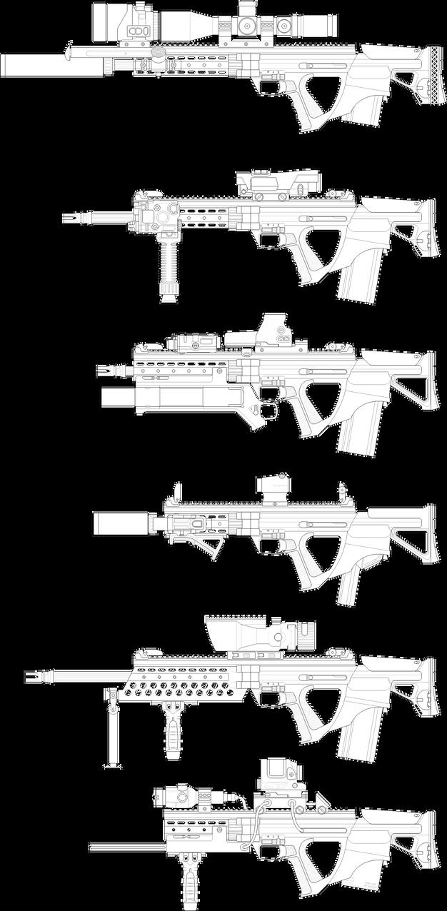 R7A1 Rifle by Skariaxil