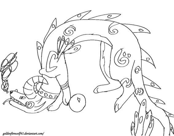 A creature IDK by GoldenFireWolf45