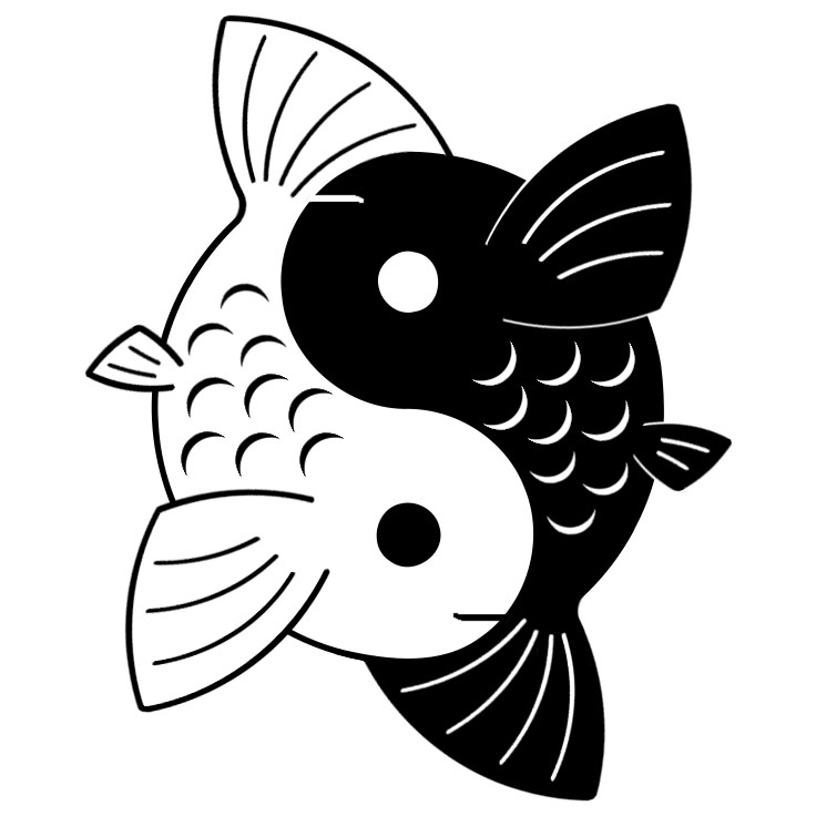 yin yang koi by yurayah on deviantart