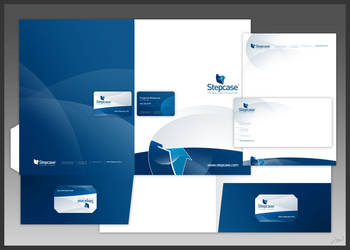 Stepcase logo + stationery by arpad