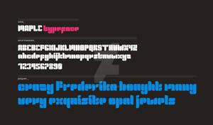 maple typeface teaser