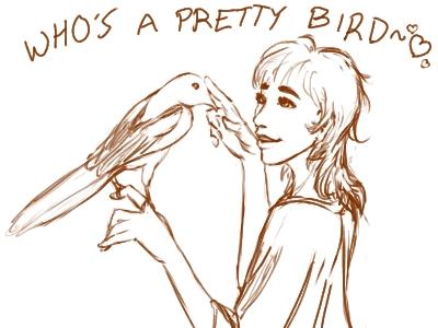 Pretty Bird by DreamingFoxfire