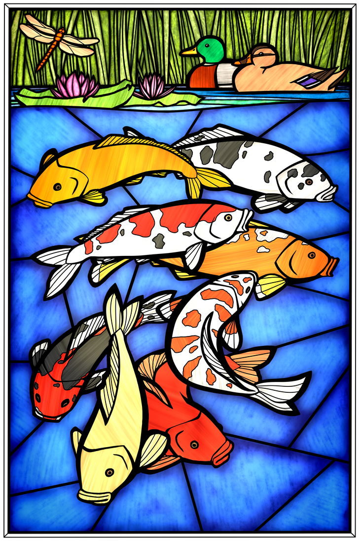 Koi pond by iolanthae on deviantart for Koi fish pond drawing