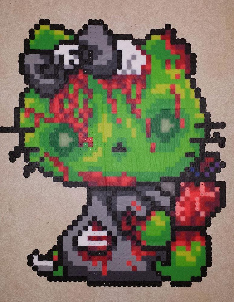 Perler - Zombie Hello Kitty by IAmArkain