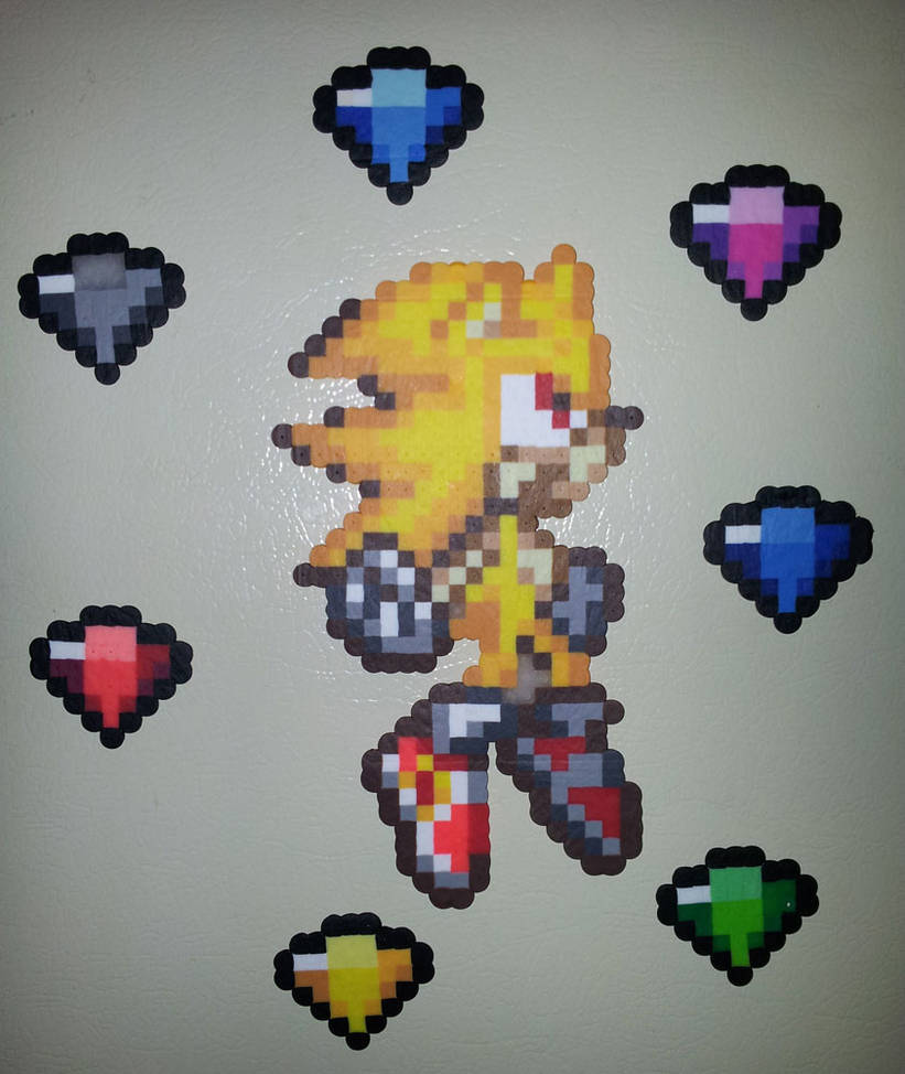 Super Sonic And The Chaos Emeralds By Iamarkain On Deviantart