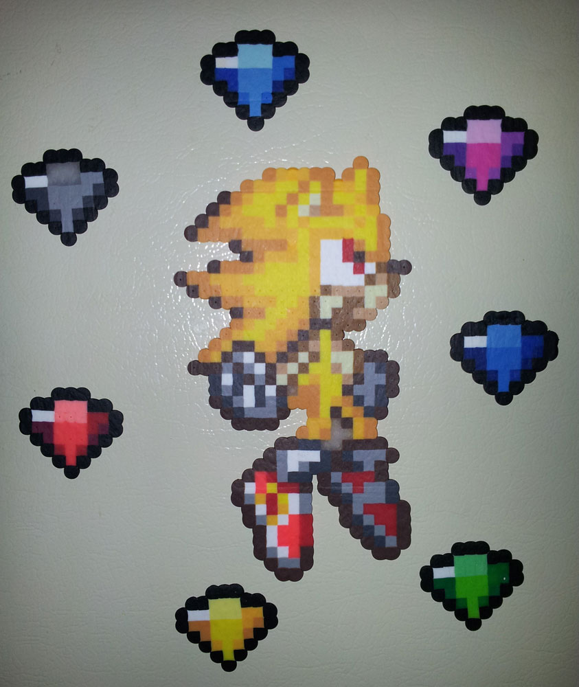 Super Sonic and the Chaos Emeralds by IAmArkain