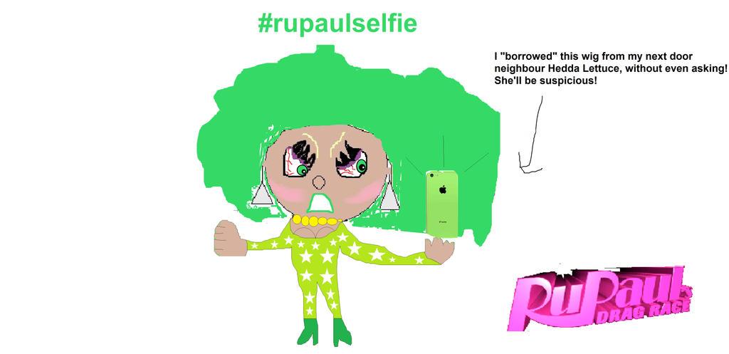 RuPaul takes a selfie! by ElliotJK2000
