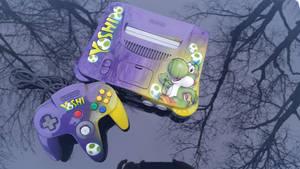 custom painted Yoshida themed n64