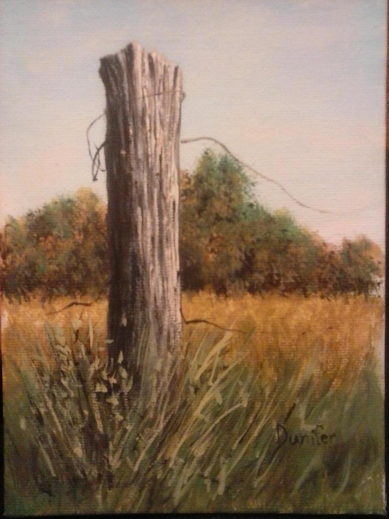 A Post, In a Field by JDunifer