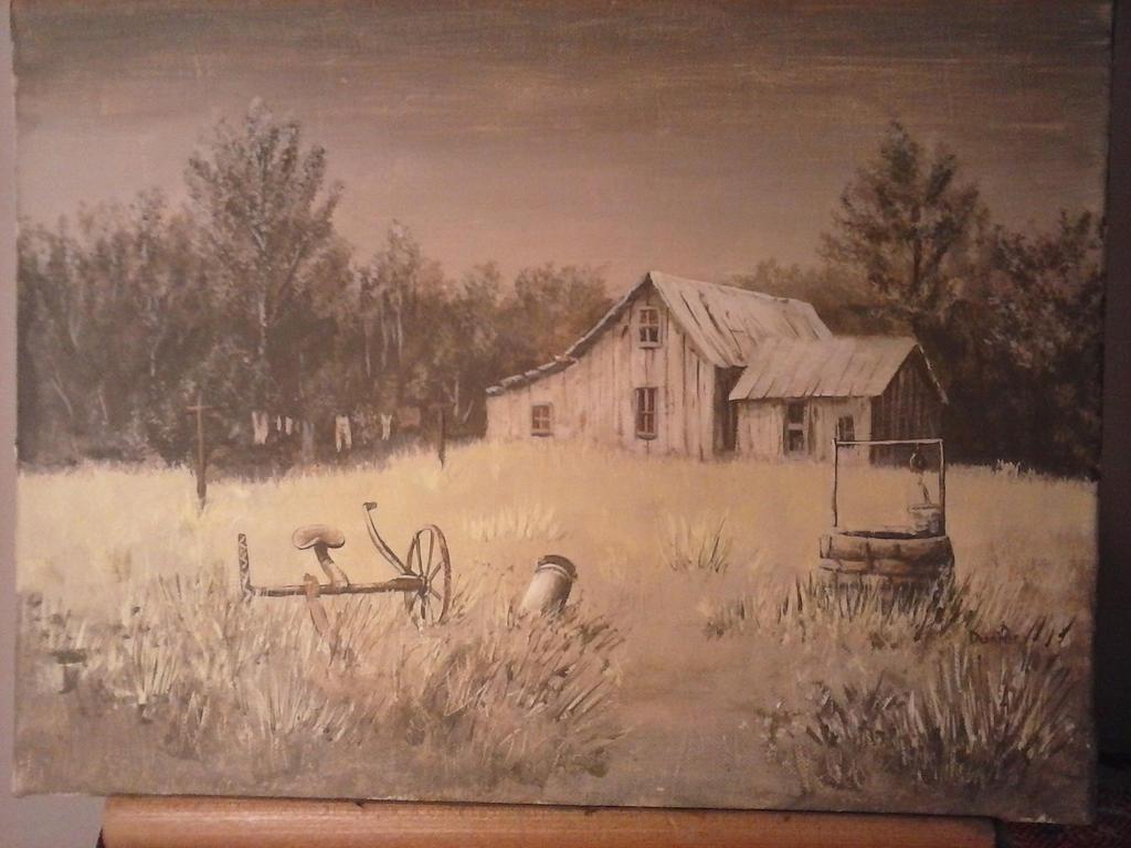An Old Cabin by JDunifer