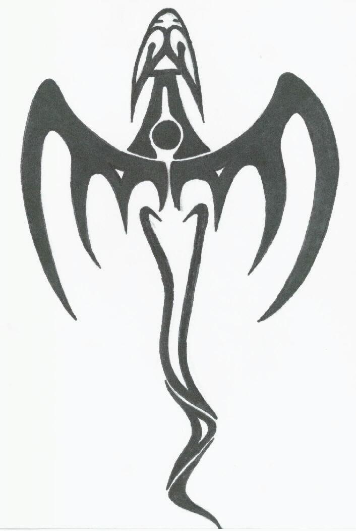 Tribal Dragon Pixi by OvanReed on DeviantArt  Tribal Art Dragon Simple