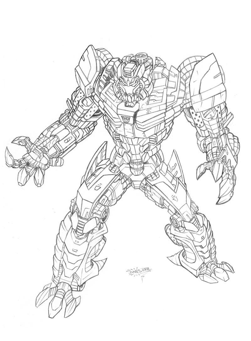 Grimlock coloring coloring pages for Grimlock coloring page