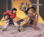 Geki vs Griffozer by HIIVolt-07