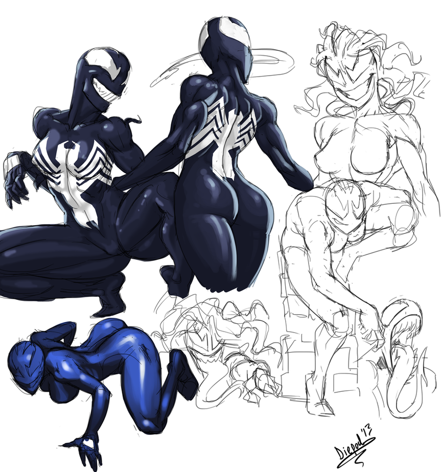 She Venom Sketches by HIIVolt-07