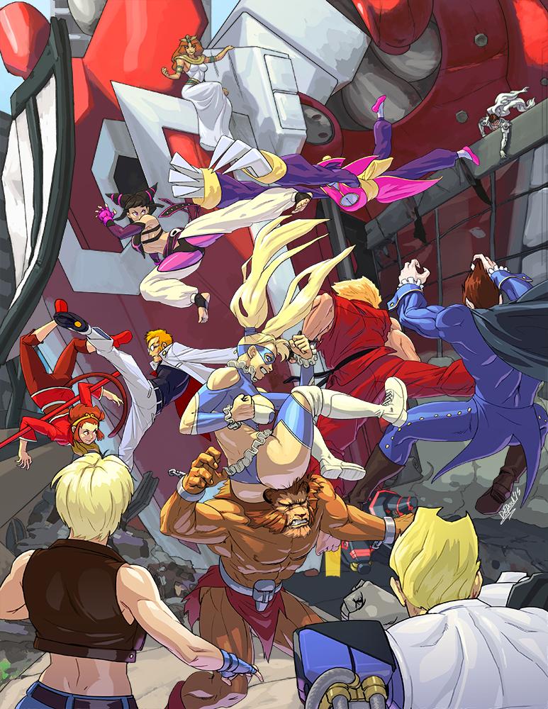 Capcom Fighting Tribute by HIIVolt-07