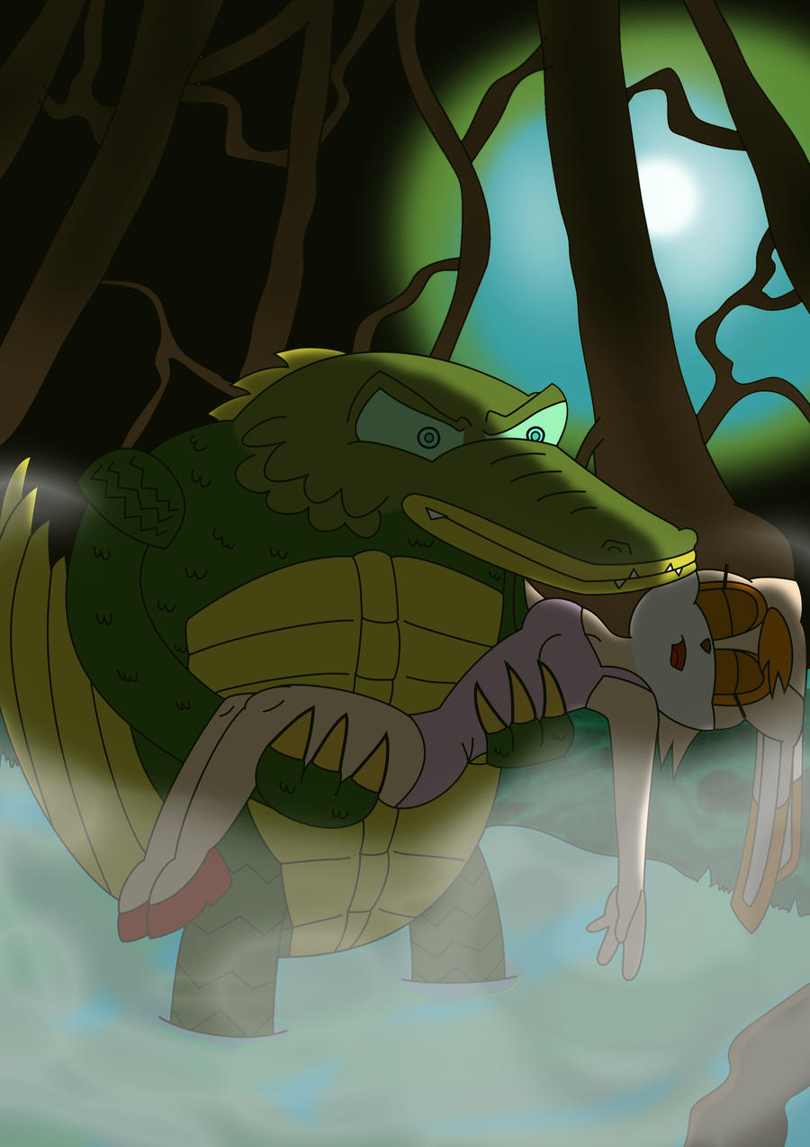 Vector from the Black Lagoon by Super-JoshVanilla The Rabbit And Vector The Crocodile
