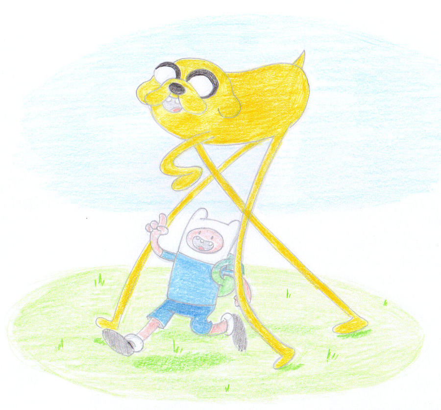 Jake the Dog and Finn the Human by Super-Josh