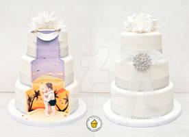 Fiji Hidden Scene Wedding Cake
