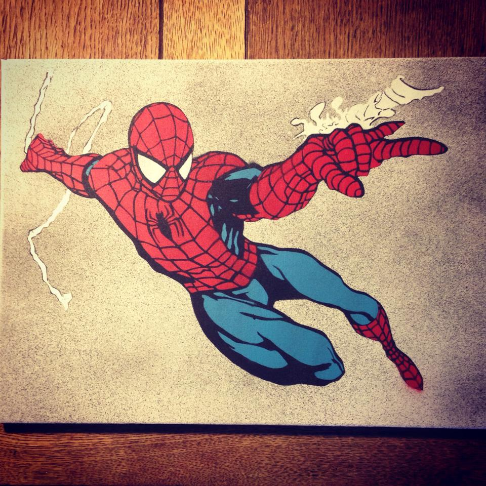 Spiderman Wall Stencils