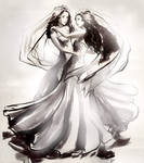Dancing Together by nillia