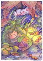 hedgehog by OkawaMizuki