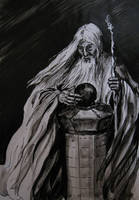 Saruman with the Palantir by kuliszu