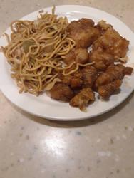 Panda Express Orange Chicken and Chow Mein by C16B