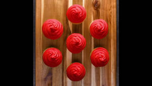 Red Frosted Chocolate Filling Cupcakes