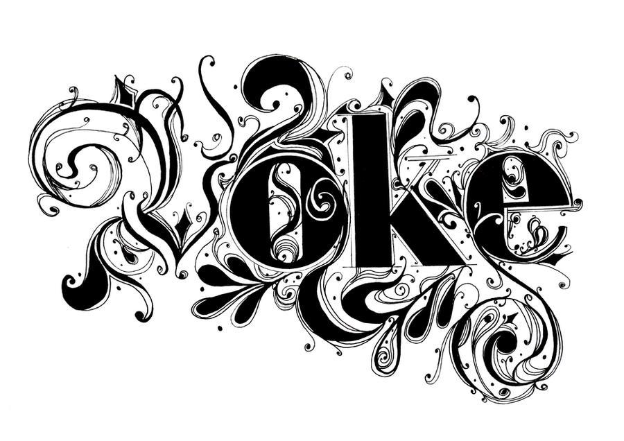 VOKE ornate sumingashi type by ~GrantMilne