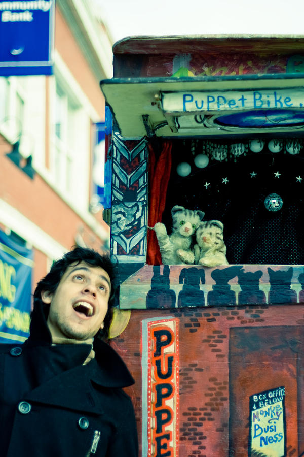 Puppet Bike and Augusto: 1 by allnightoperator