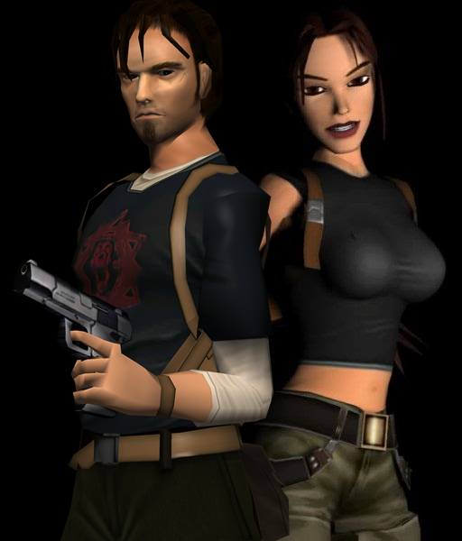 Tomb Rider Wallpaper: Lara Croft E Kurtis Trent By Pedro-Croft On DeviantArt