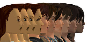 Lara Croft Face EVOLUTION