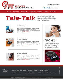 Tele-Verse Email Newsletter