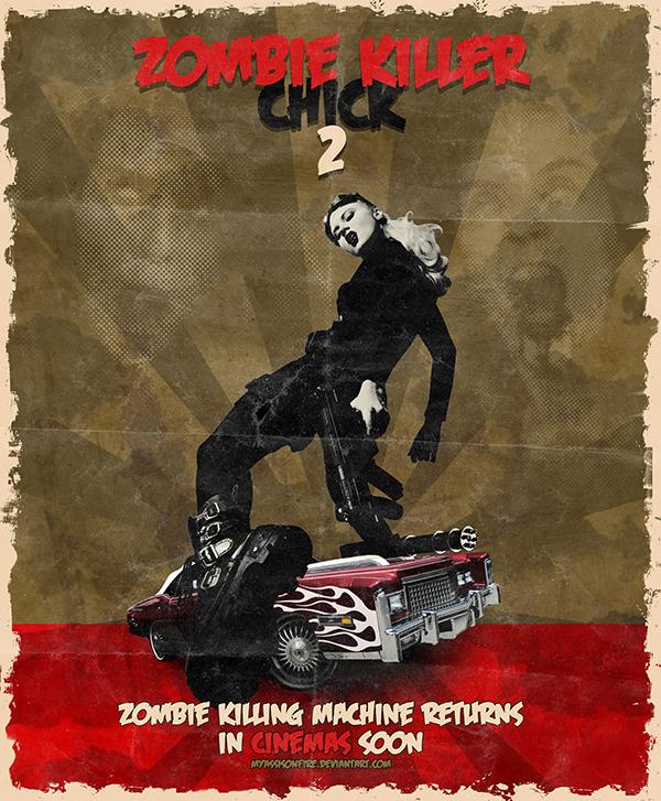 Zombie Killer Chick 2 by MyAssIsOnFire